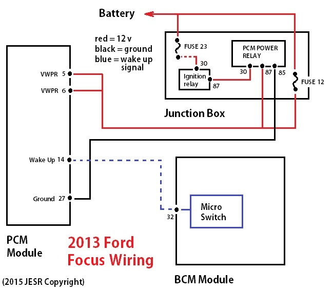2013 Ford Focus PCM Wiring