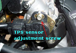 tps sensor adjustment screw