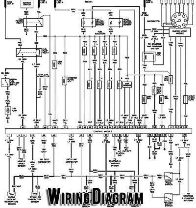 Automotive wiring diagram on lighting circuit fuse box